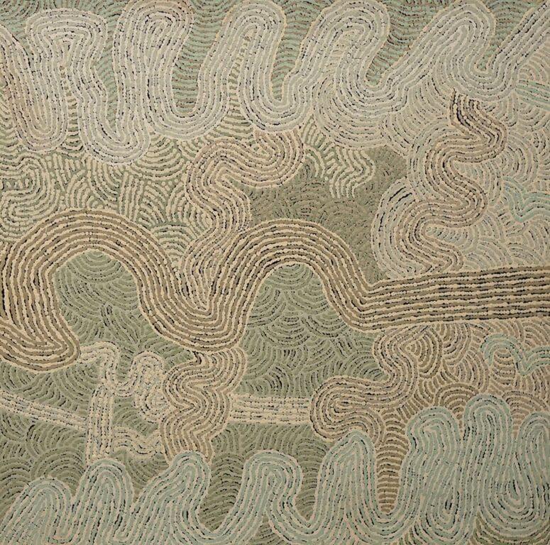 Carlene Thompson Kalaya Tjukurpa - Emu Dreaming acrylic on linen 76 x 76 cm