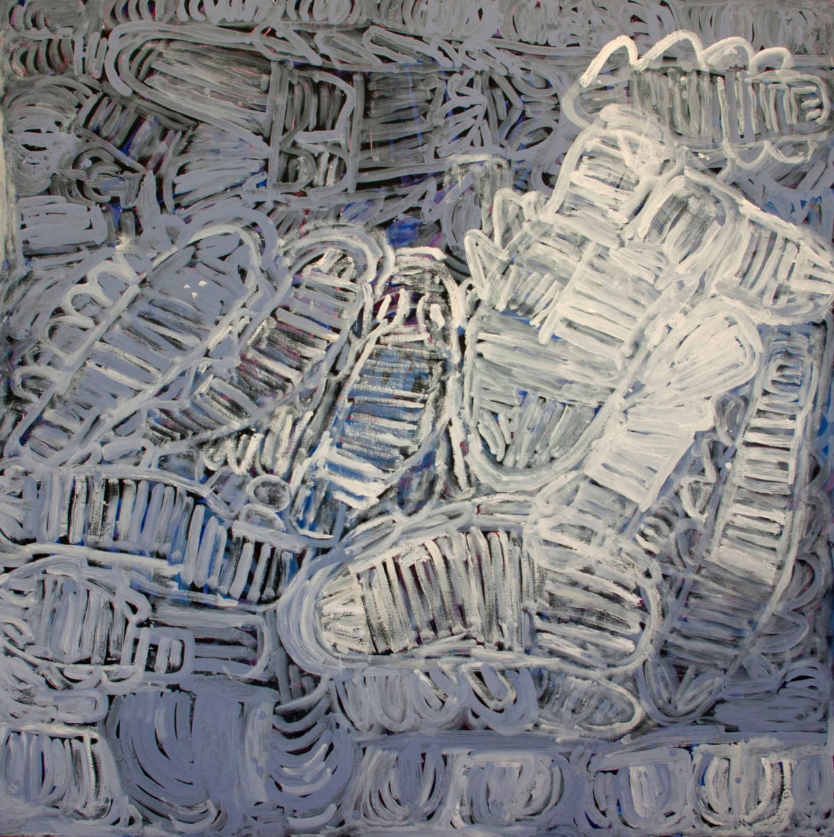 Sonia Kurarra Martuwarra acrylic on canvas 150 x 150 cm