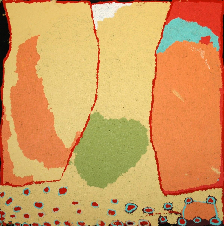 Alma Webou (Kalaju) Pinkalarta acrylic on linen 122 x 122 cm