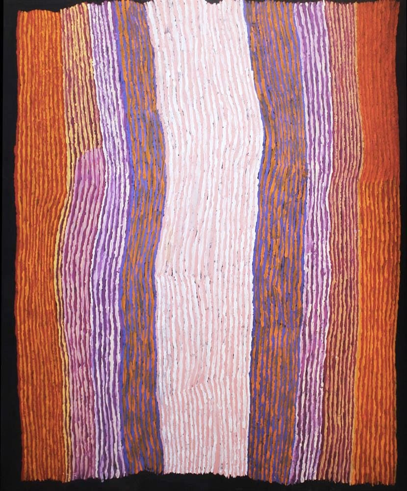 Ray Ken Tali - Sand dune acrylic on linen 152 x 120 cm