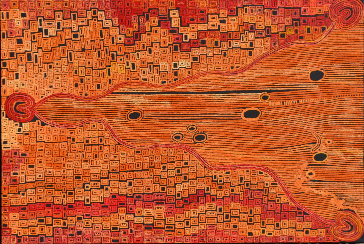 Alison Anderson Rain Dreaming Tjukurrpa acrylic on canvas 90 x 60 cm