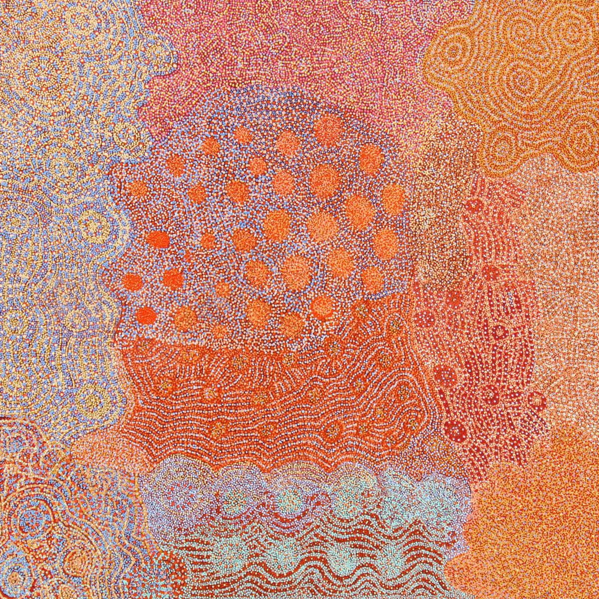 Maringka Burton Anamaruku Piti Tjuta acrylic on canvas 198 x 198 cm