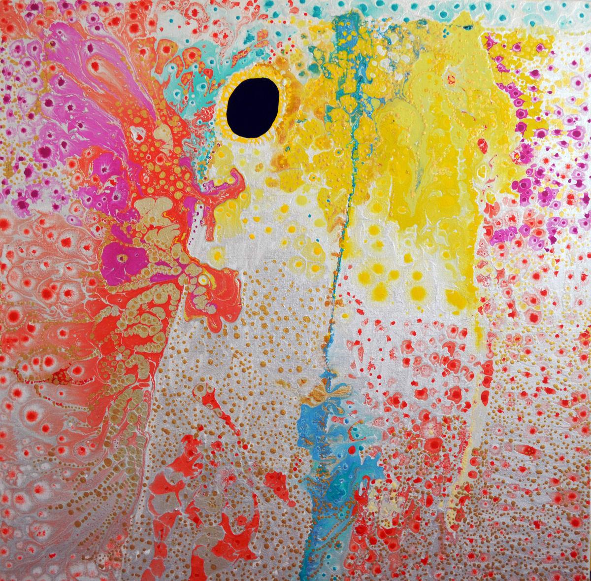 Daniel Walbidi Kirriwirri 2015 acrylic on linen 100 x 100 cm