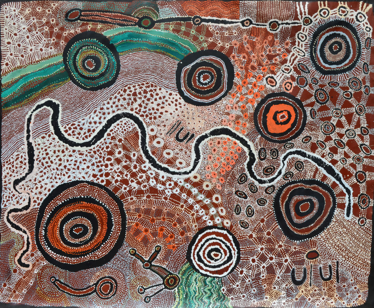 Watarru Collaborative Ilpili acrylic on linen 200 x 240 cm