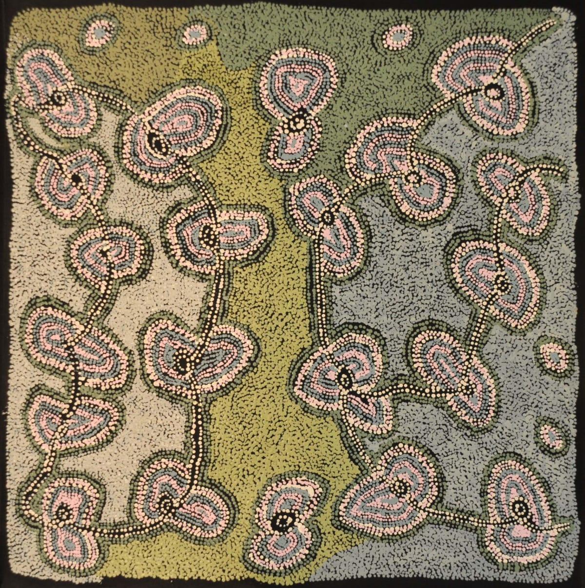 Tjariya (Nungalka) Stanley Minyma Kutjara acrylic on canvas 100 x 100 cm