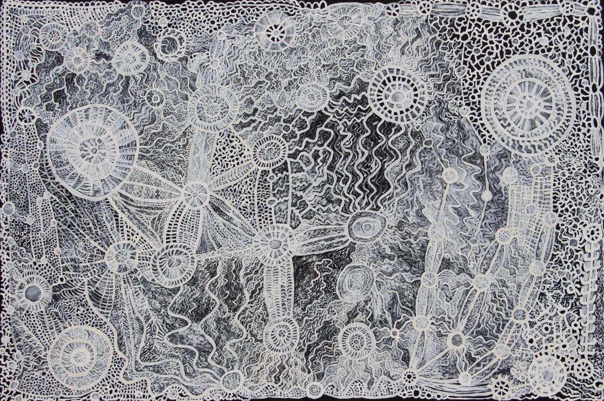 Betty Muffler Ngura (Country) acrylic on canvas 112 x 167 cm