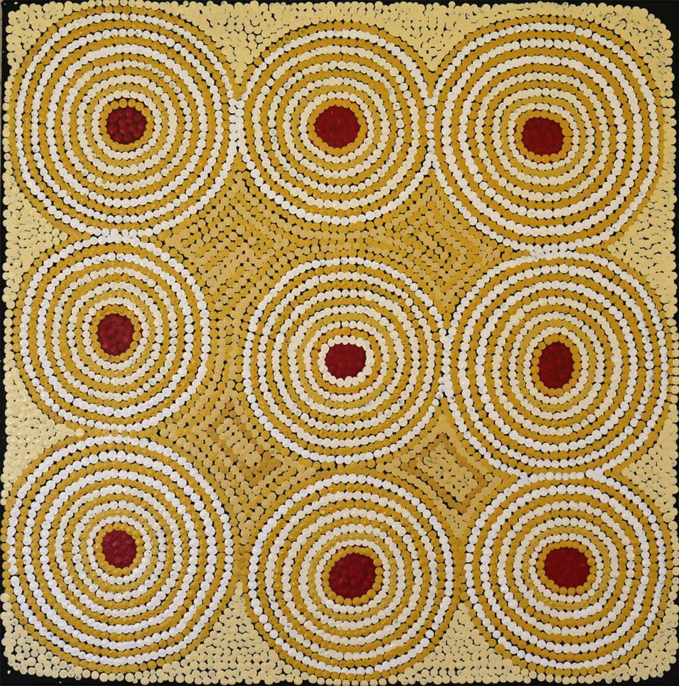 Elizabeth Namitjinpa Kapi Dreaming, Karrinyarra acrylic on linen 55 x 55.5 cm