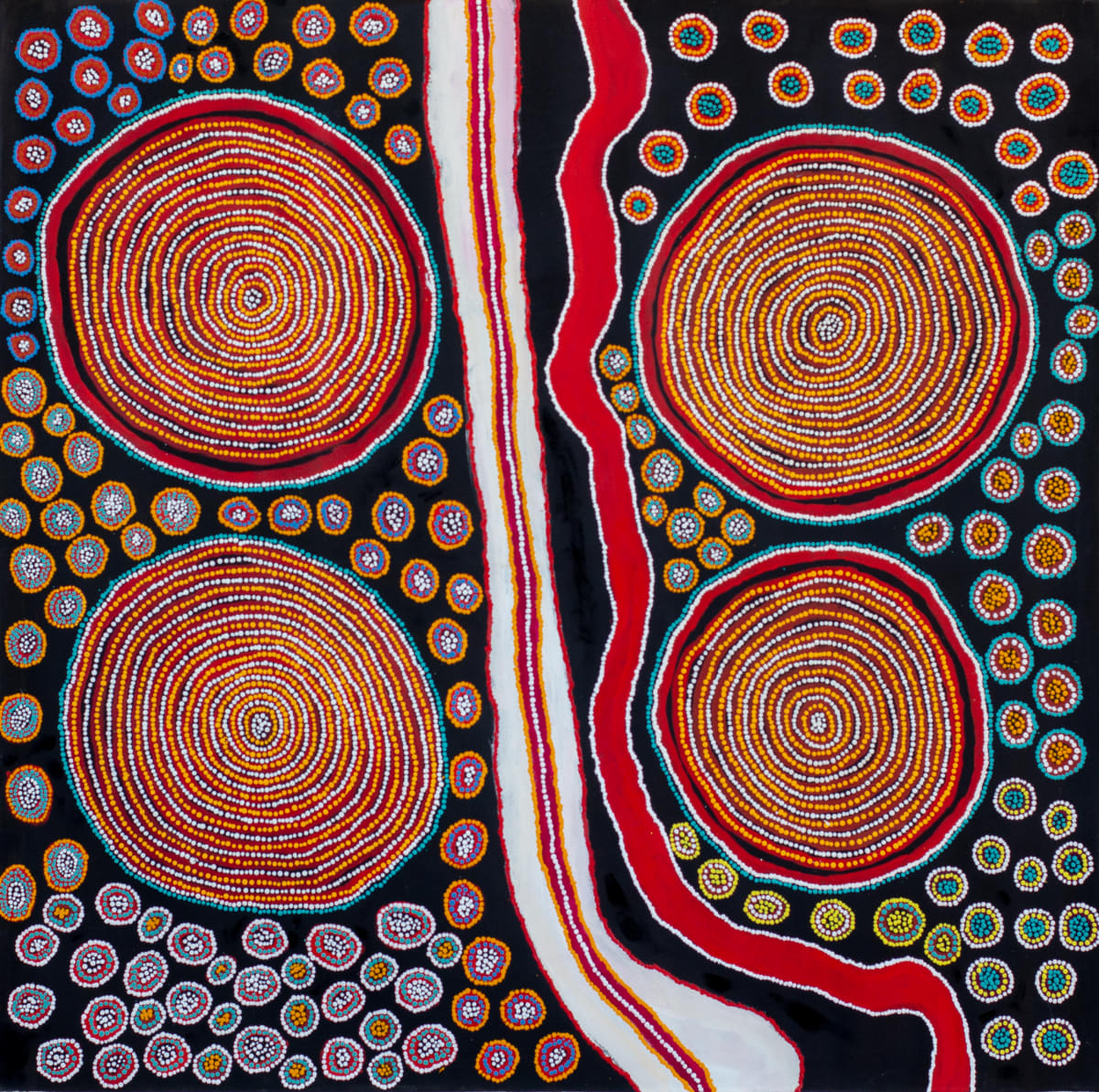 Lennard Walker Purpurmunu Kuru Ala, 2018 Acrylic on linen 137 x 140 cm