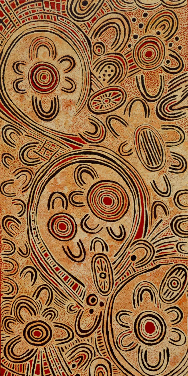 Alison Anderson Awalu acrylic on linen 92 x 46 cm