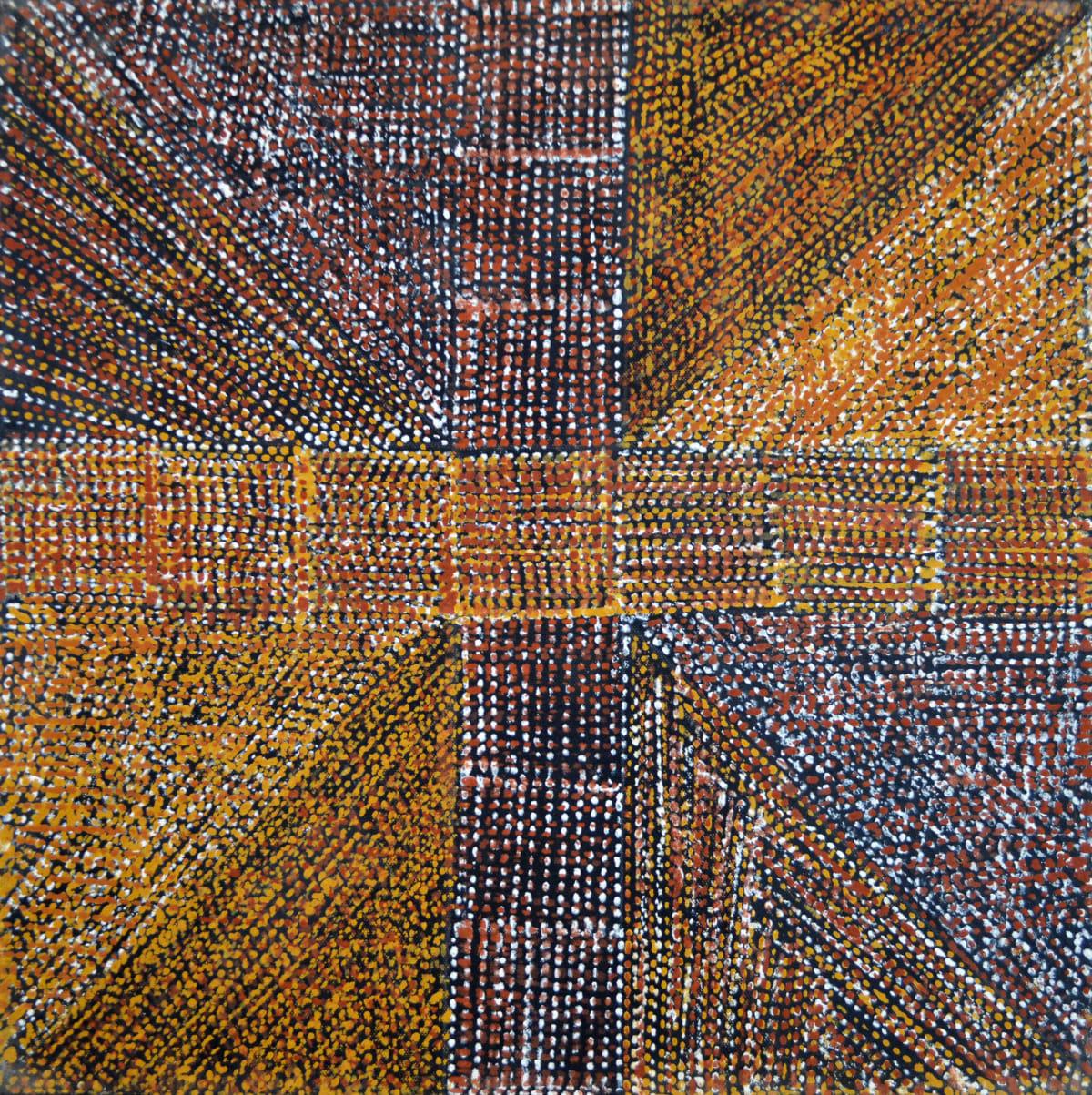 Kaye Brown Jilamara natural ochres on canvas 45 x 45 cm
