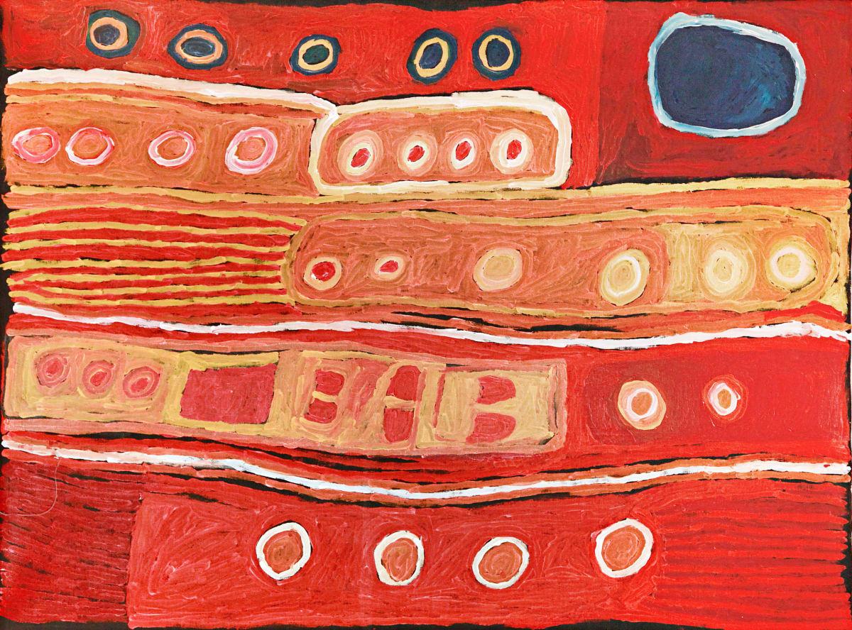 Nellie Stewart Wana Wani acrylic on linen 150 x 200 cm