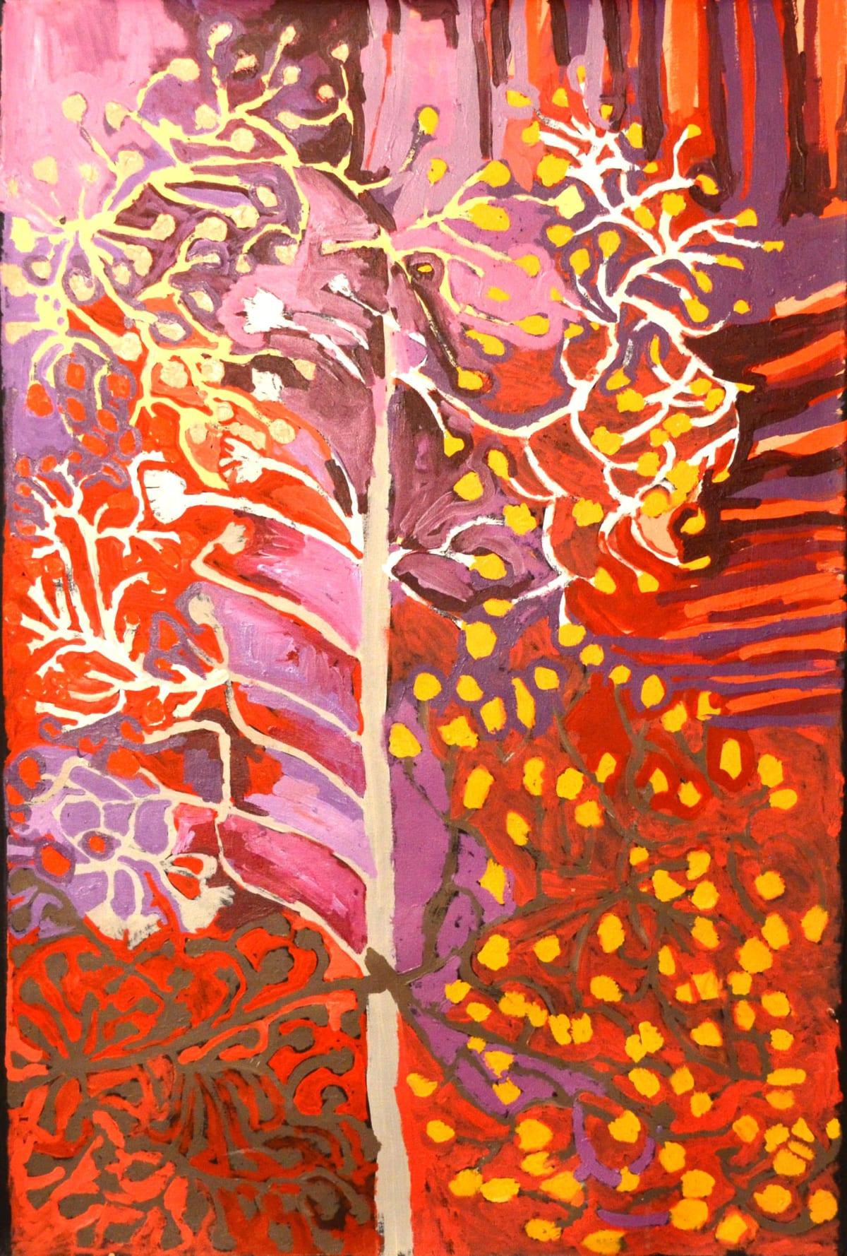 Barney Wangin Punu-nguru acrylic on linen 152.5 x 101 cm