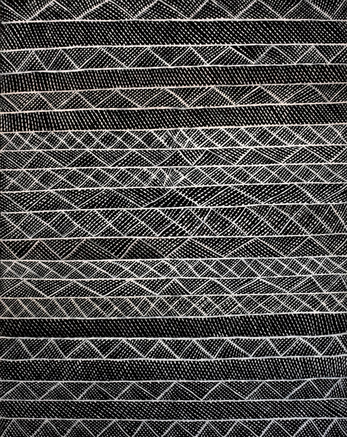 Jacinta Lorenzo Jilamara natural ochres on linen 120 x 150 cm