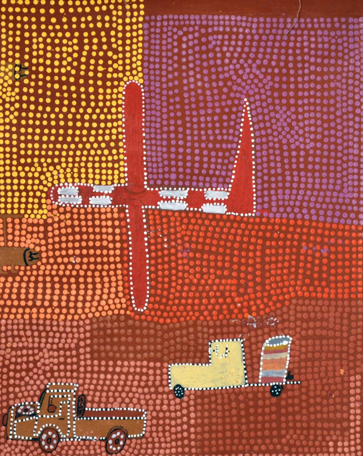 Kumanara Barney Travelling acrylic on linen 75 x 62 cm