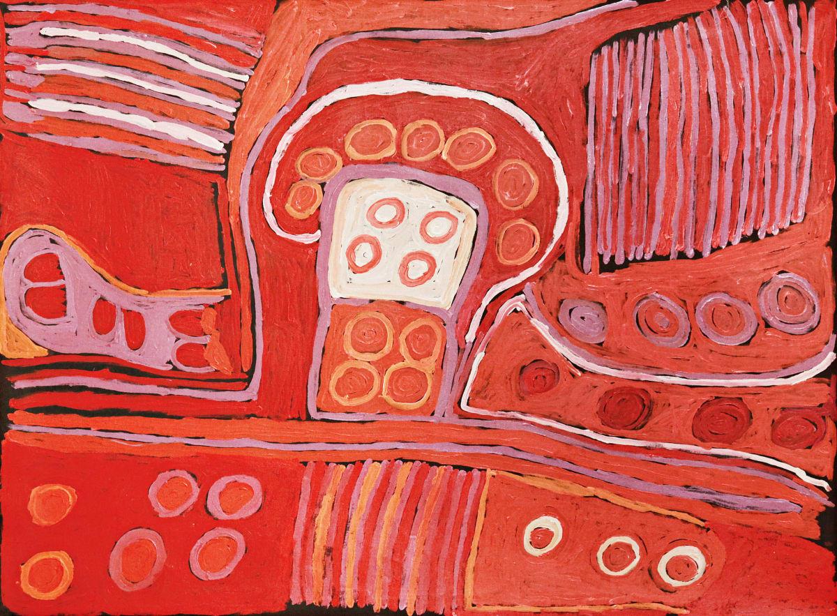 Nellie Stewart Minyma Kutjara acrylic on linen 150 x 197 cm