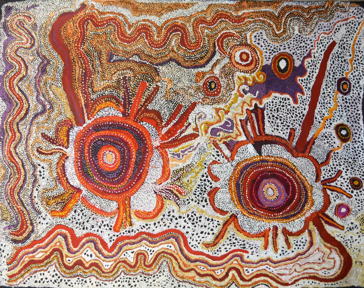Manyitjanu Lennon Mamungari'nya acrylic on linen 200 x 153 cm
