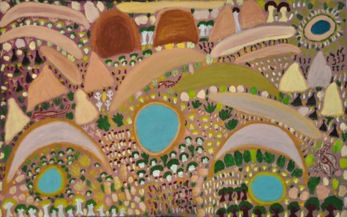 Lily Long (Jatarr) Warnman Country acrylic on linen 76 x 122 cm