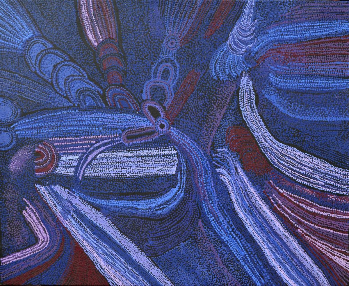 Teresa Baker Minyma Malilunya acrylic on linen 100 x 120 cm