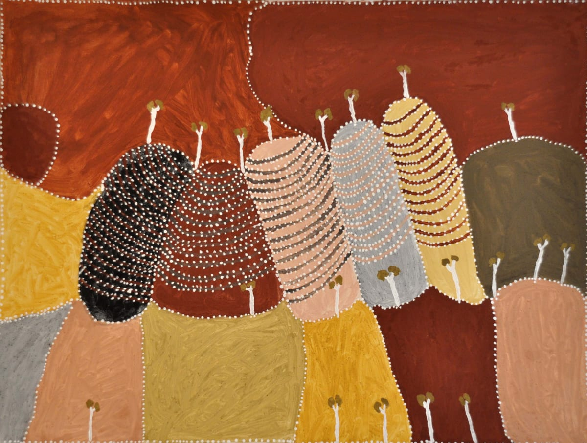 Patrick Mung Mung Purnululu natural ochre and pigments on canvas 120 x 90 cm