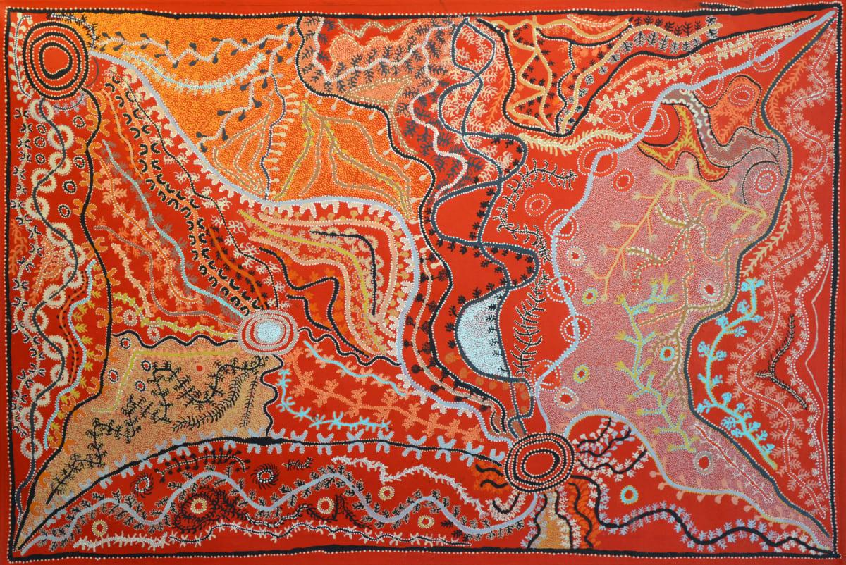 Peter Mungkuri Ngura (Country) acrylic on canvas 112 x 167 cm