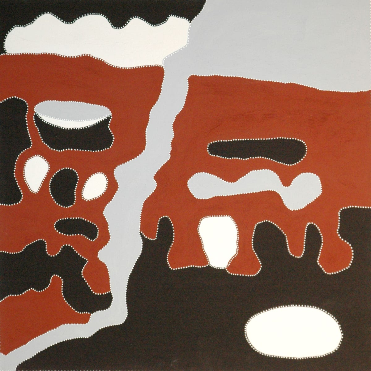 Rusty Peters My Father's Uncle's Country natural ochres on linen 120 x 120 cm
