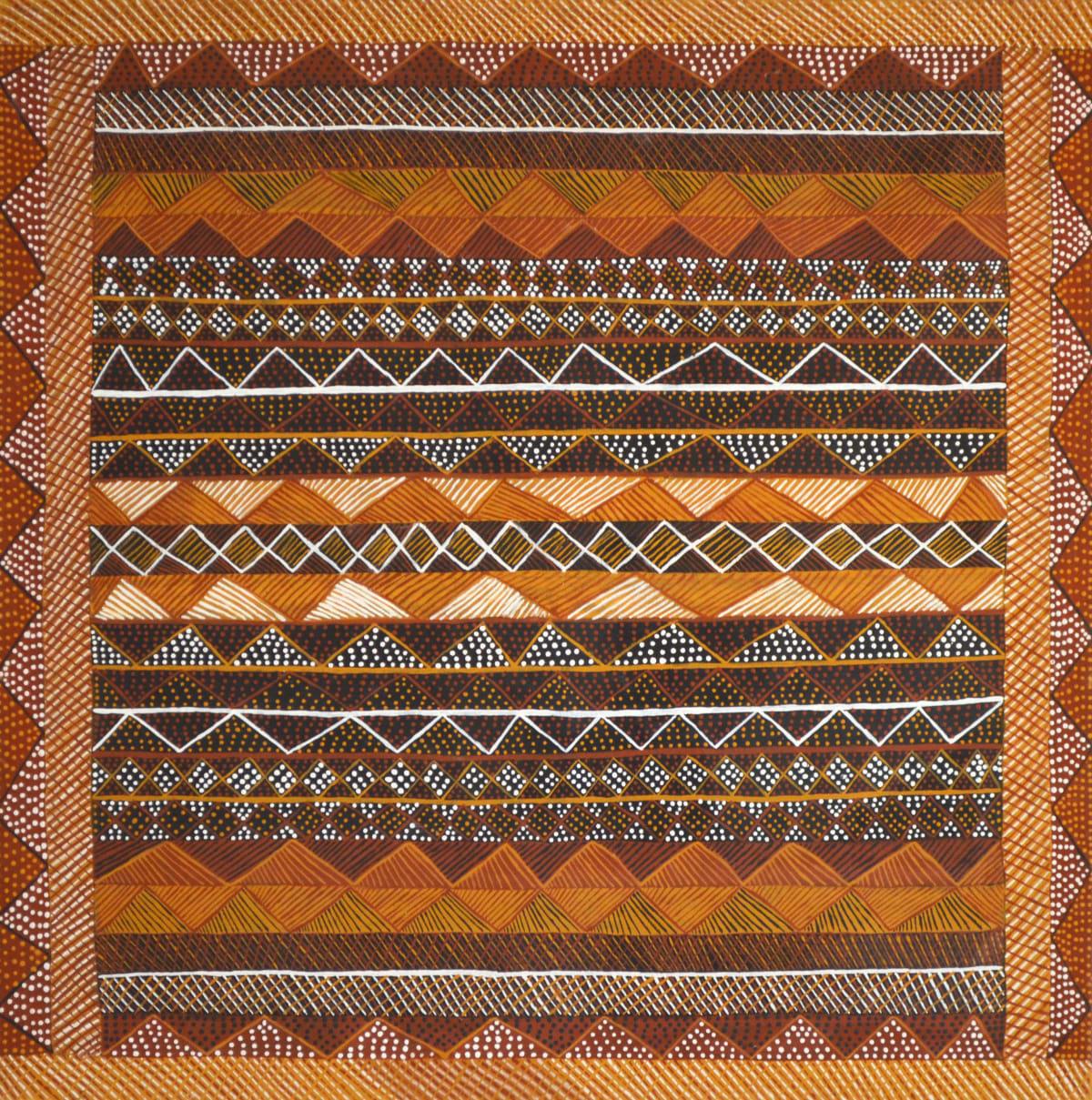 Jacinta Lorenzo Jilamara natural ochres on linen 120 x 120 cm
