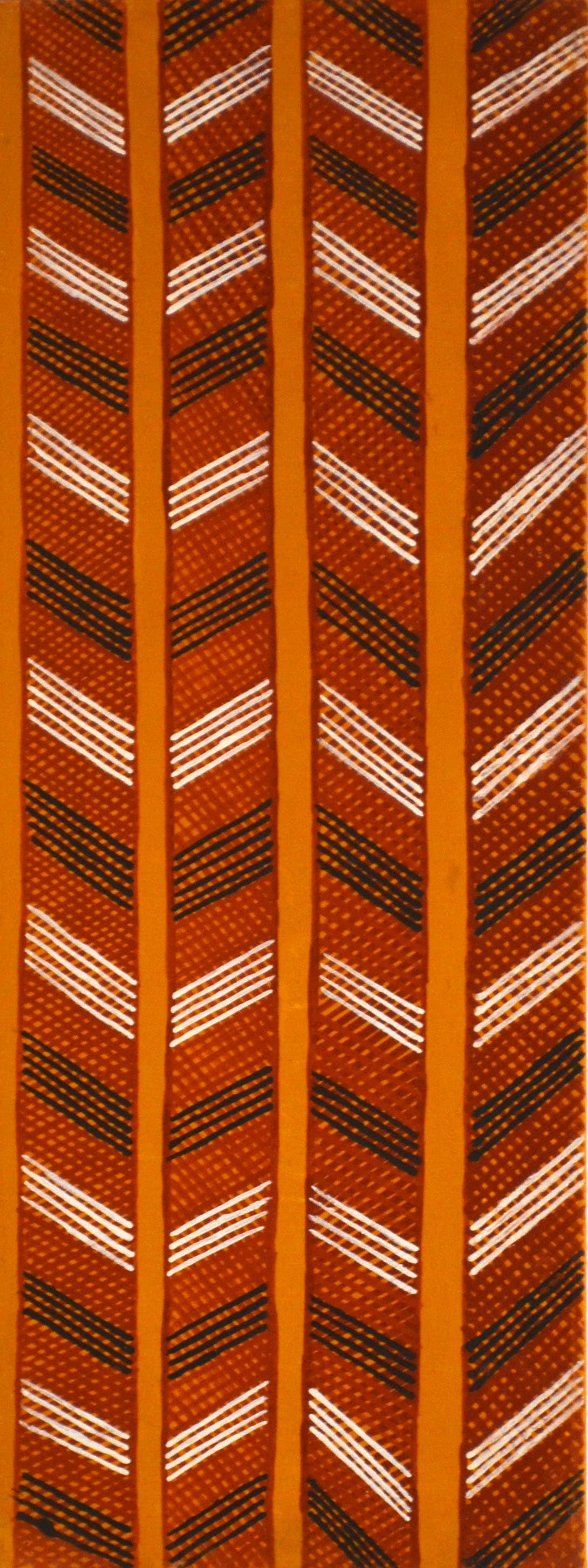 Raelene Kerinauia Liddy Lampuwatu Jilamara natural ochres on linen 30 x 80 cm