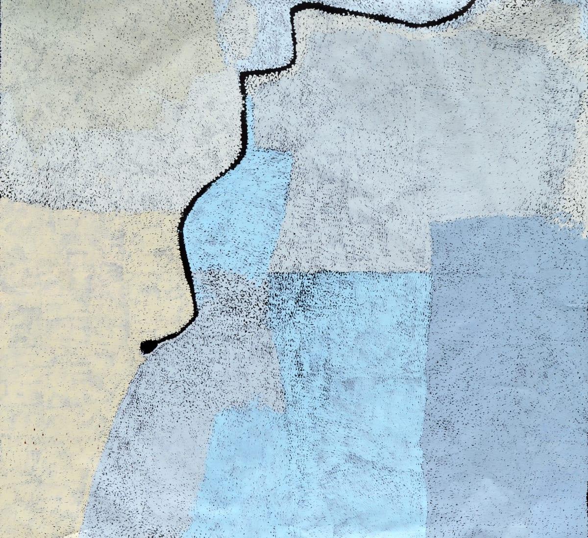Pepai Jangala Carroll Walungurru acrylic on linen 178 x 180 cm