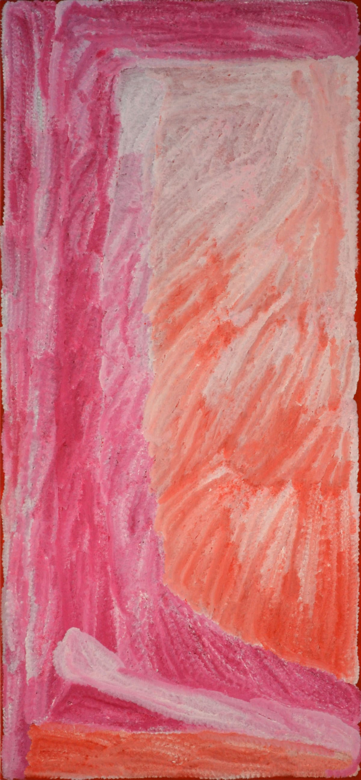 Lydia Balbal Martakulu acrylic on canvas 148 x 68 cm