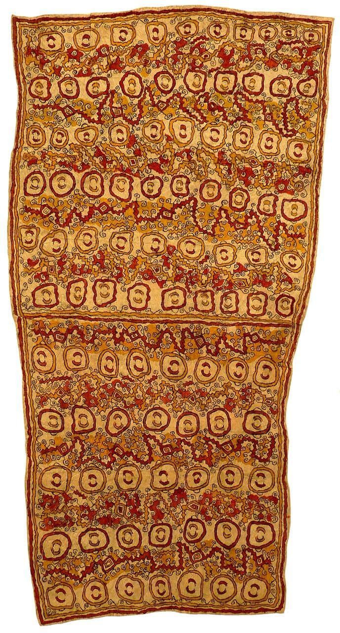 Dapeni Jonevari (Mokokari) Ujawe soru'e (Asimano'e (taigu taigu'e, odunaigo'e, vinohu'e) natural pigments on nioge (barkcloth) 111 x 59 cm