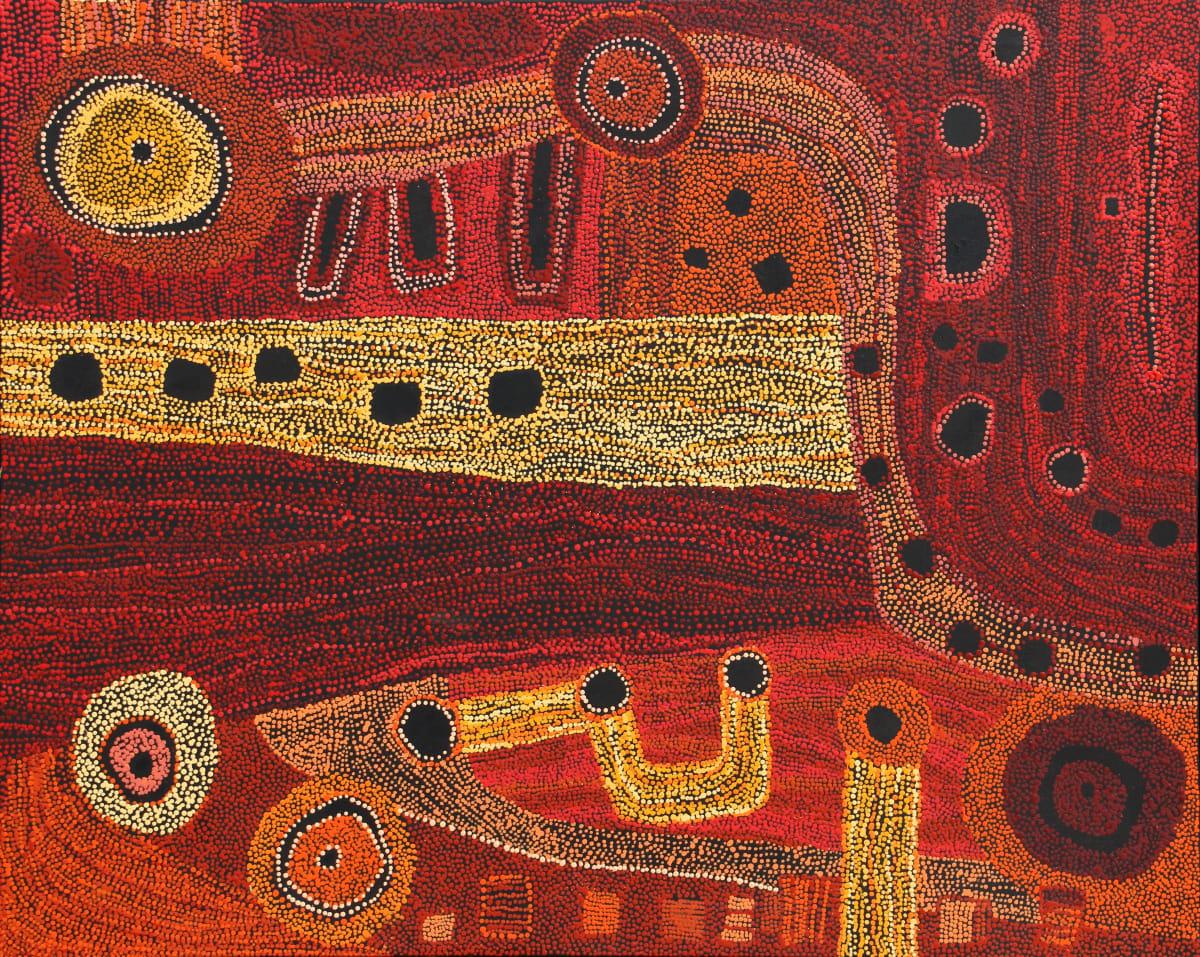 Betty Chimney Ngura (Country) acrylic on canvas 122 x 152 cm