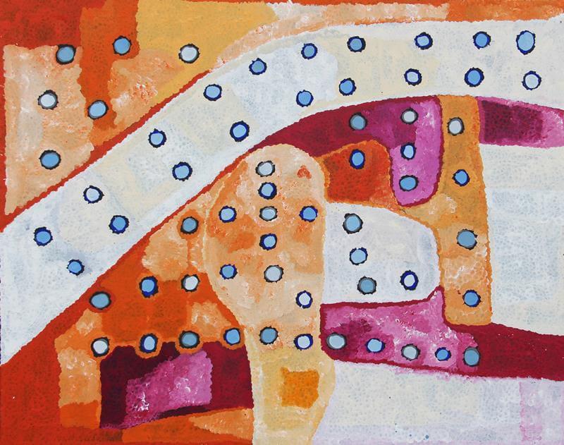 Barney Eric Mungi Kumanara Ngura ( country) acrylic on linen 122 x 152 cm