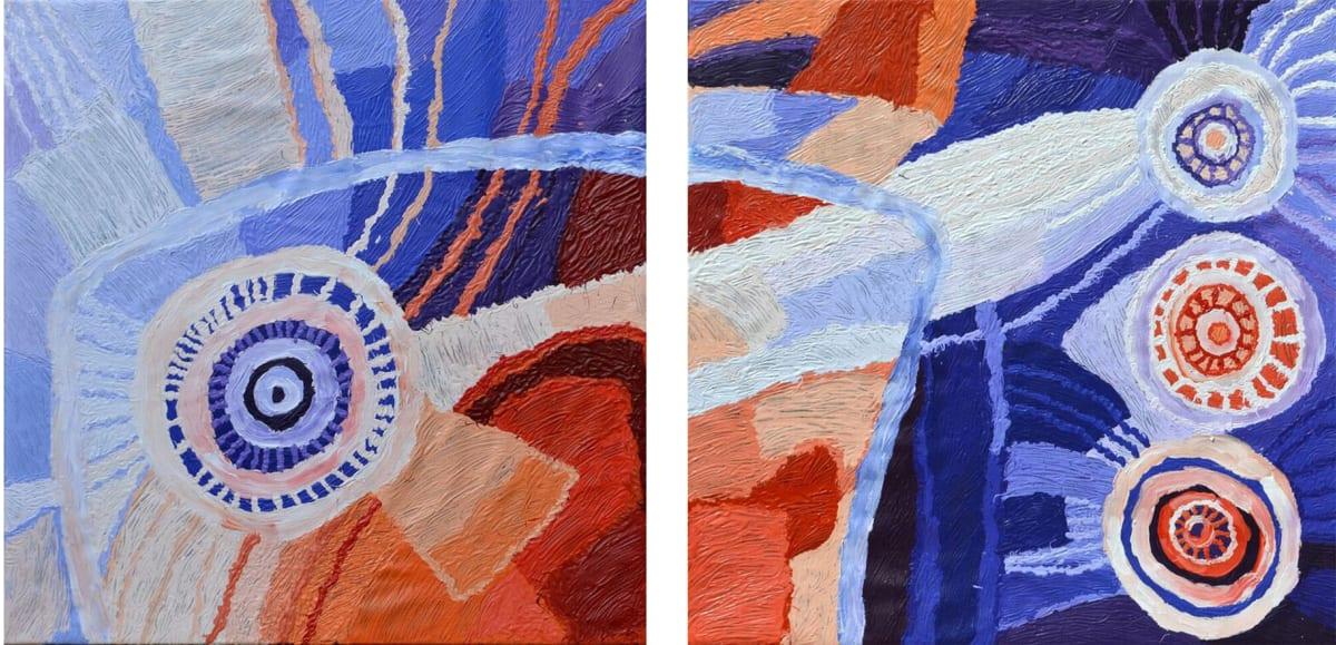 Beryl Jimmy Nyangatja Wataruu acrylic on linen 100 x 200 cm