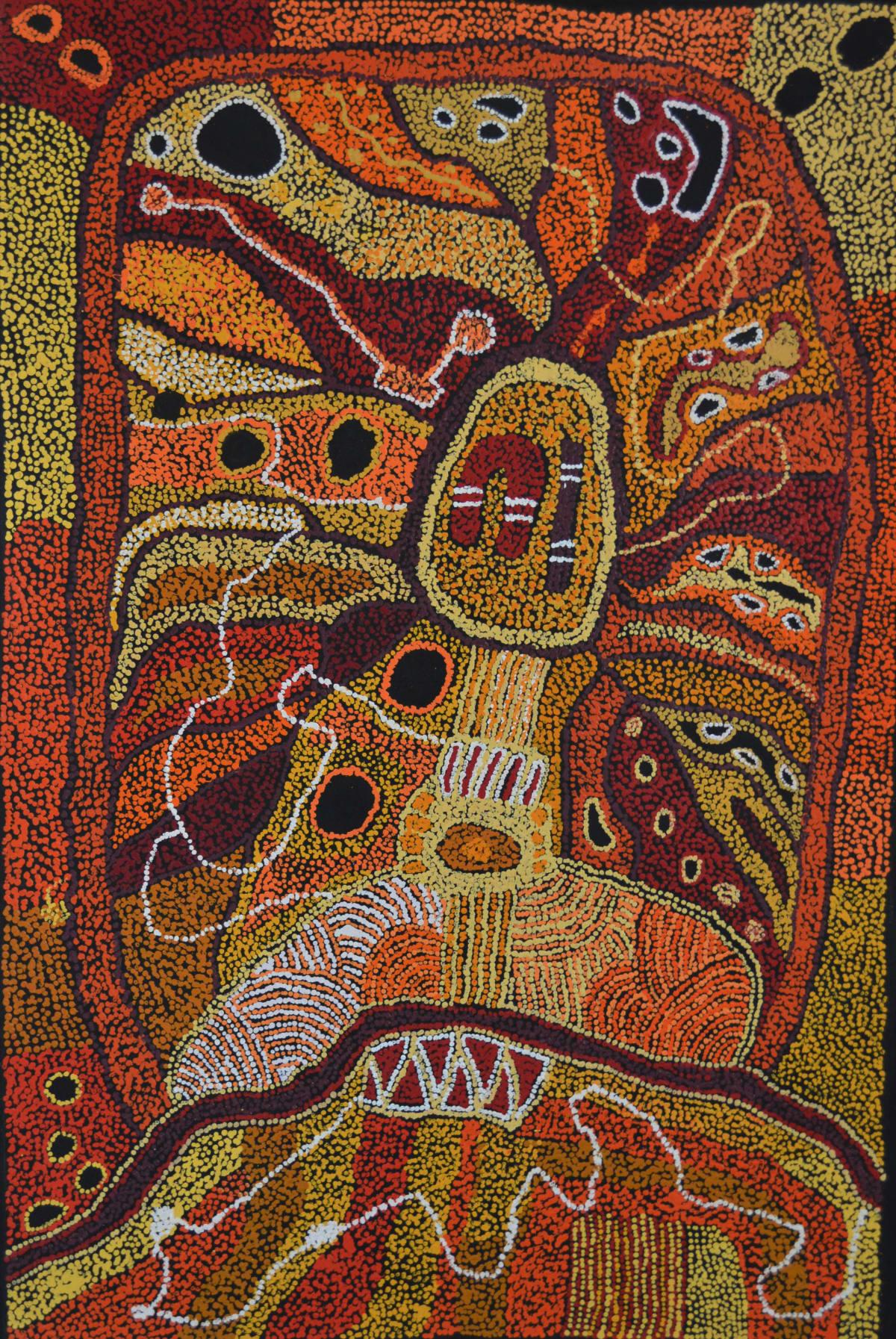 Mona Mitakiki Shepherd Ngayuku ngura - My Country acrylic on linen 152.5 x 122 cm