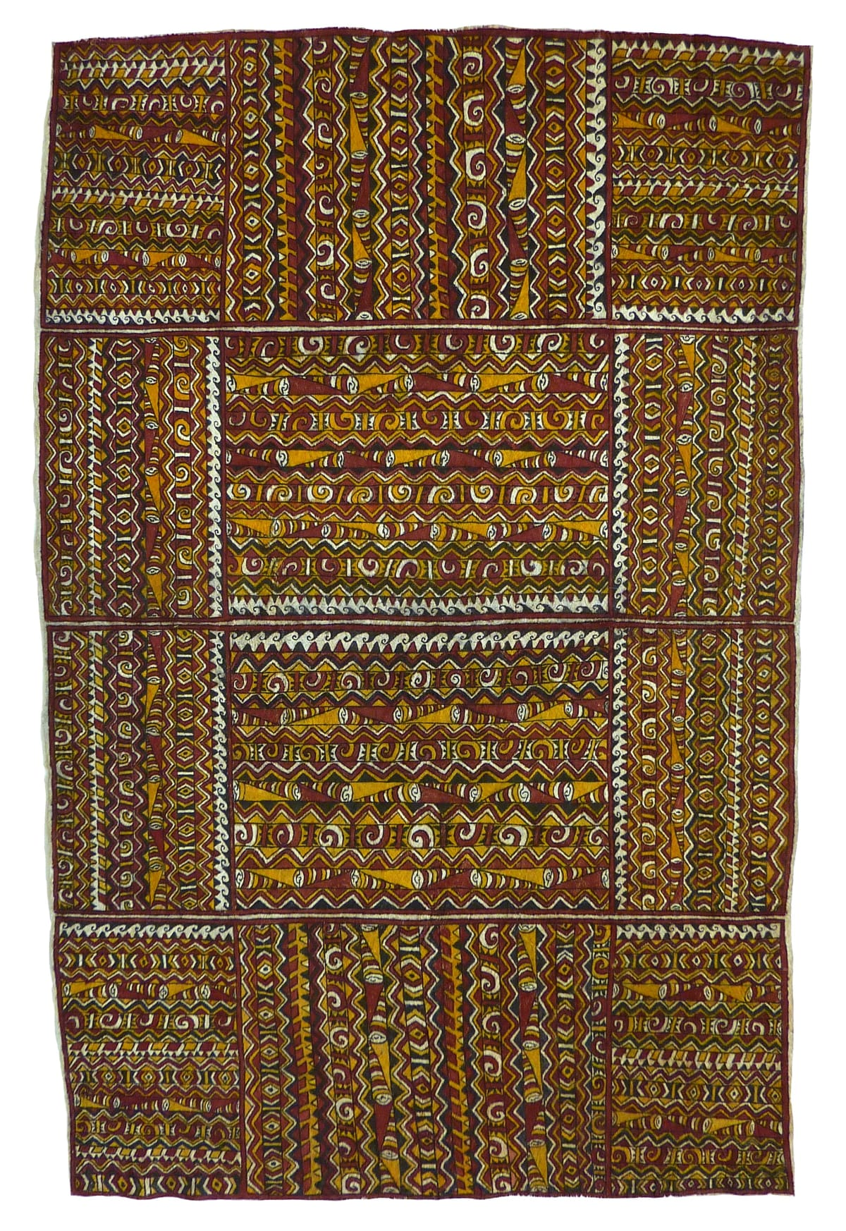 Lillias Bujava (Kausara) Mohoho'ijwe natural pigments on nioge (barkcloth) 137 x 89 cm