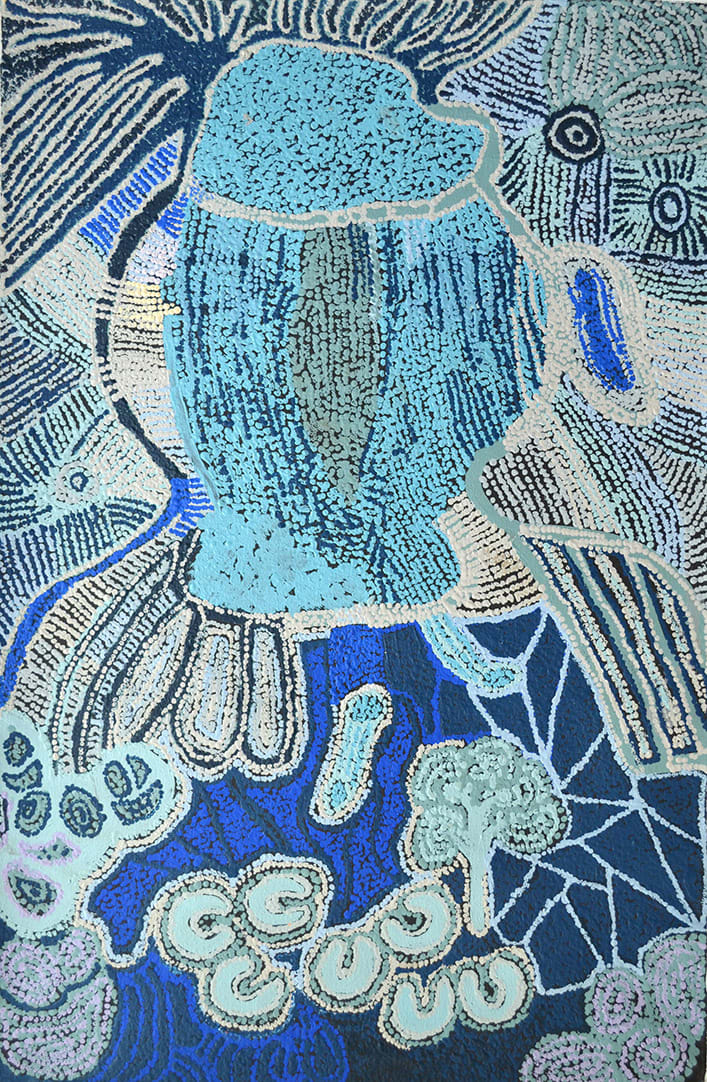 Ruth Fatt Kuru Ala acrylic on linen 100 x 60 cm