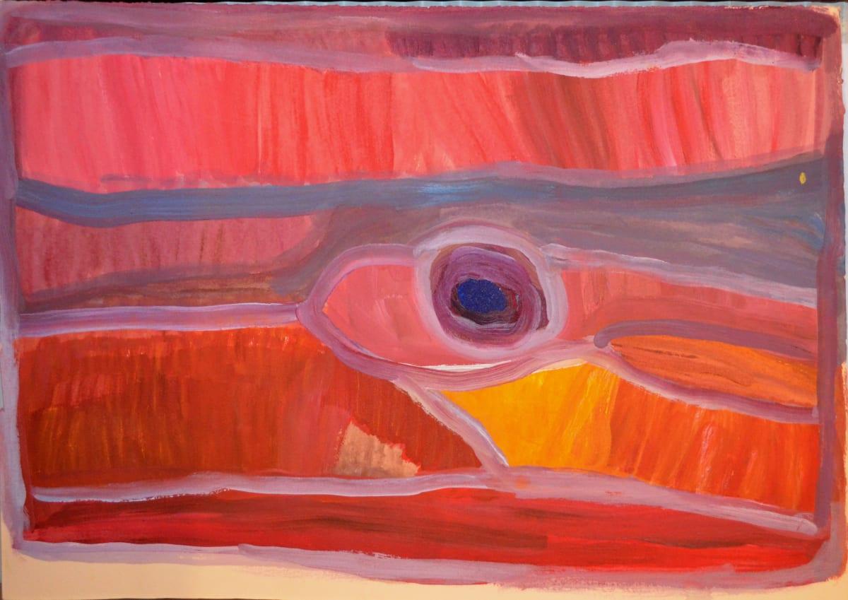 Nada ( Tjigilia) Rawlins Warrarn atelier artist acrylic on 250gsm velin arches 38 x 53 cm
