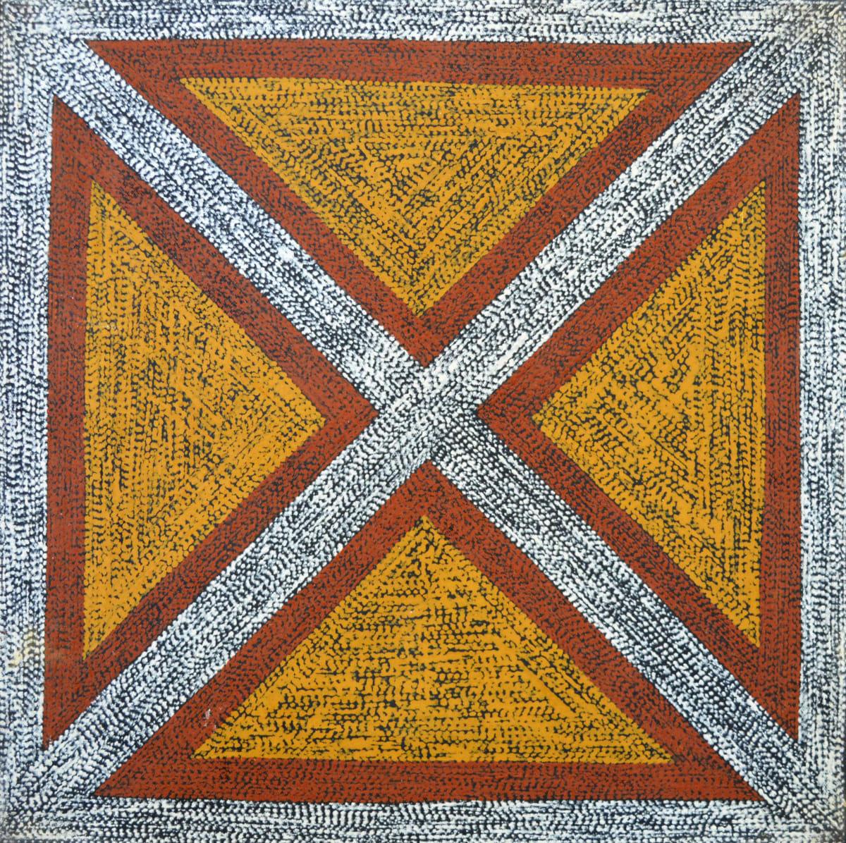 Barbara Puruntatameri Parlini Jilamara (old design) natural ochres on canvas 45 x 45 cm