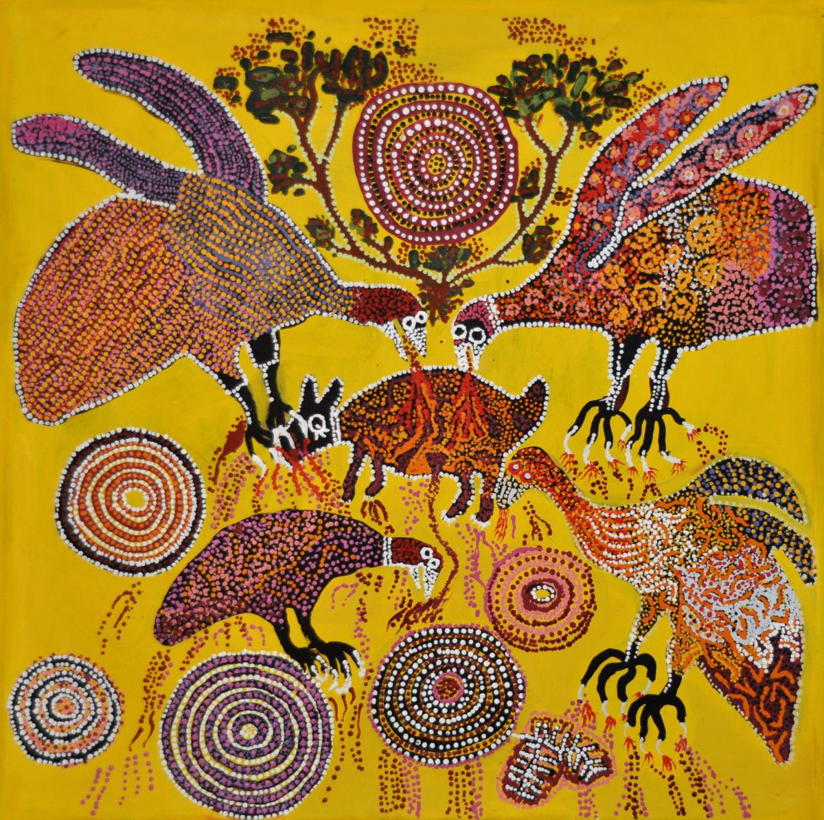 Iluwanti Ken Ngayuku ngura - My Country acrylic on linen 101.5 x 101 cm