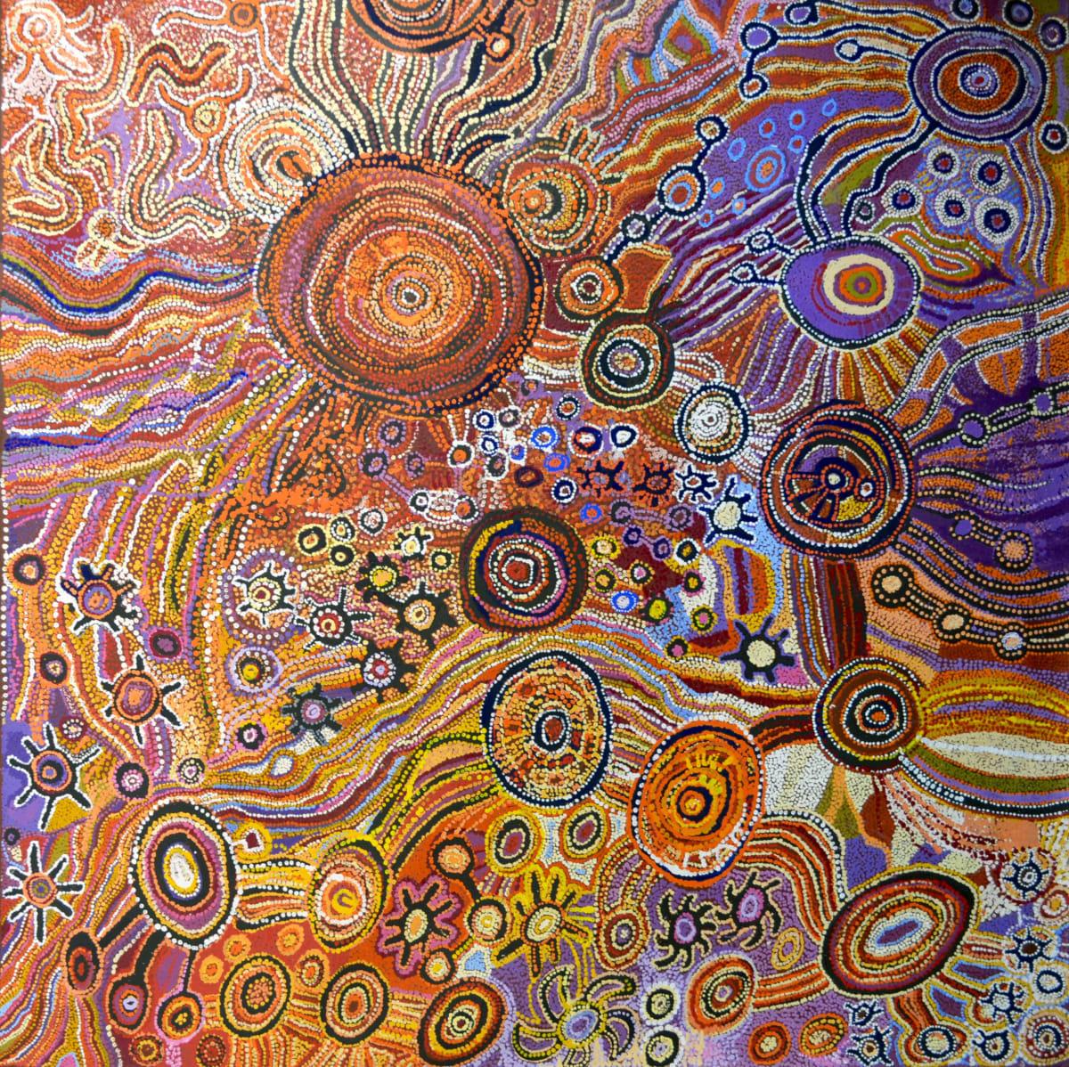 Senior Women's Collaborative - Kalkitji Untitled acrylic on linen 200 x 200 cm