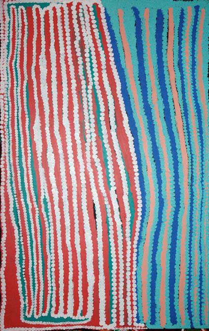 Donald Moko Kirriwirri acrylic on canvas 168 x 107 cm