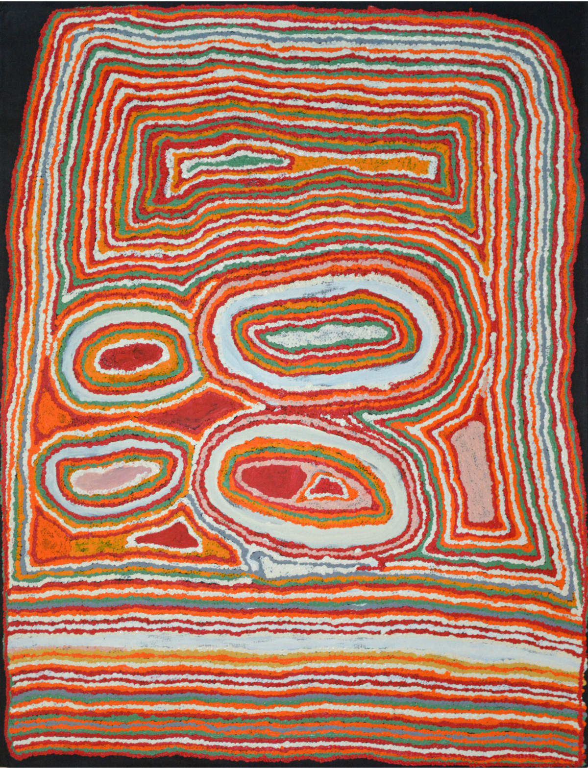 Jimmy Donegan Pukara acrylic on linen 122 x 91 cm