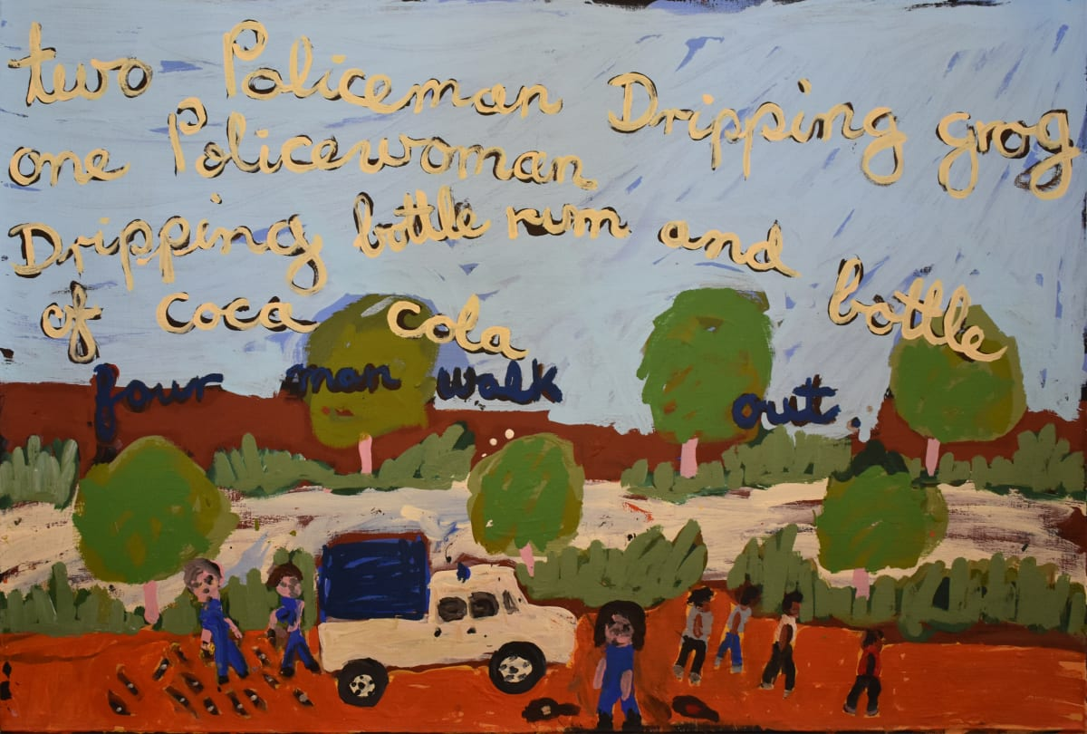 Sally M Mulda Two Policemen Dripping Grog acrylic on linen 61 x 91.5 cm