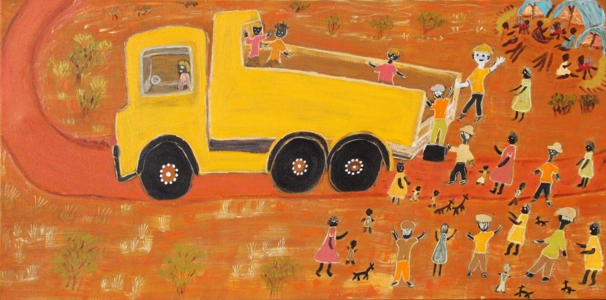 Jean Burke Irrunytju acrylic on canvas 76.2 x 152 cm