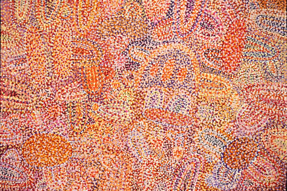 Ngupulya Pumani Maku Dreaming acrylic on linen 152 x 102 cm