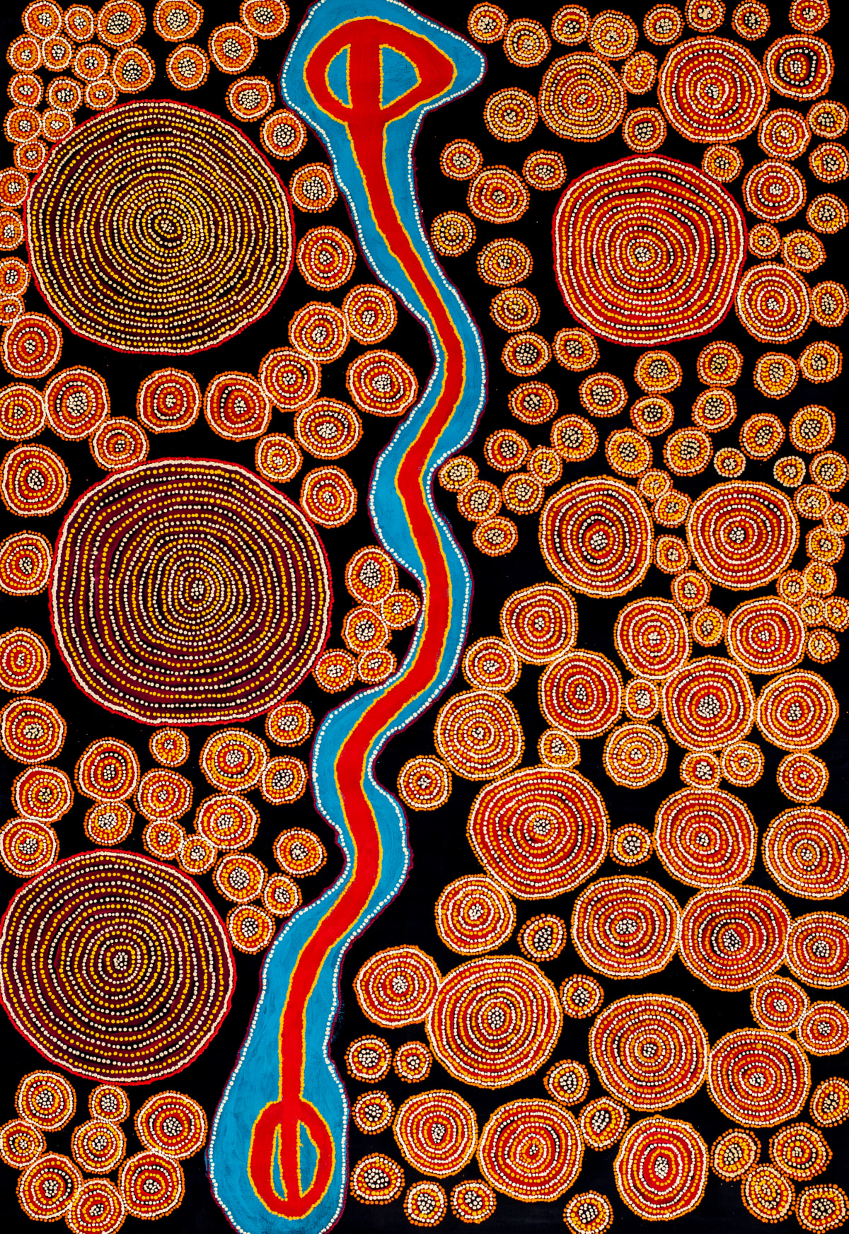 Lennard Walker Palka-Palka, 2017 Acrylic on linen 200 x 137 cm