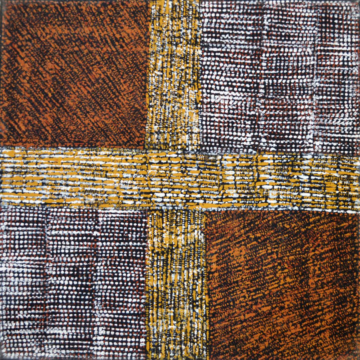 Kaye Brown Parlini Jilamara natural ochres on canvas 45 x 45 cm