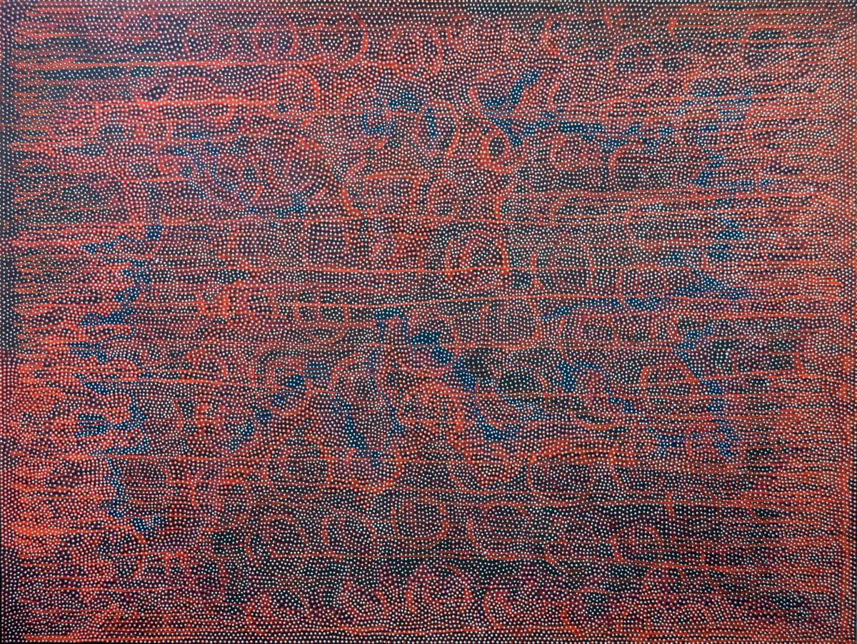 Robert Fielding Milkali Kutju acrylic on linen 200 x 150 cm