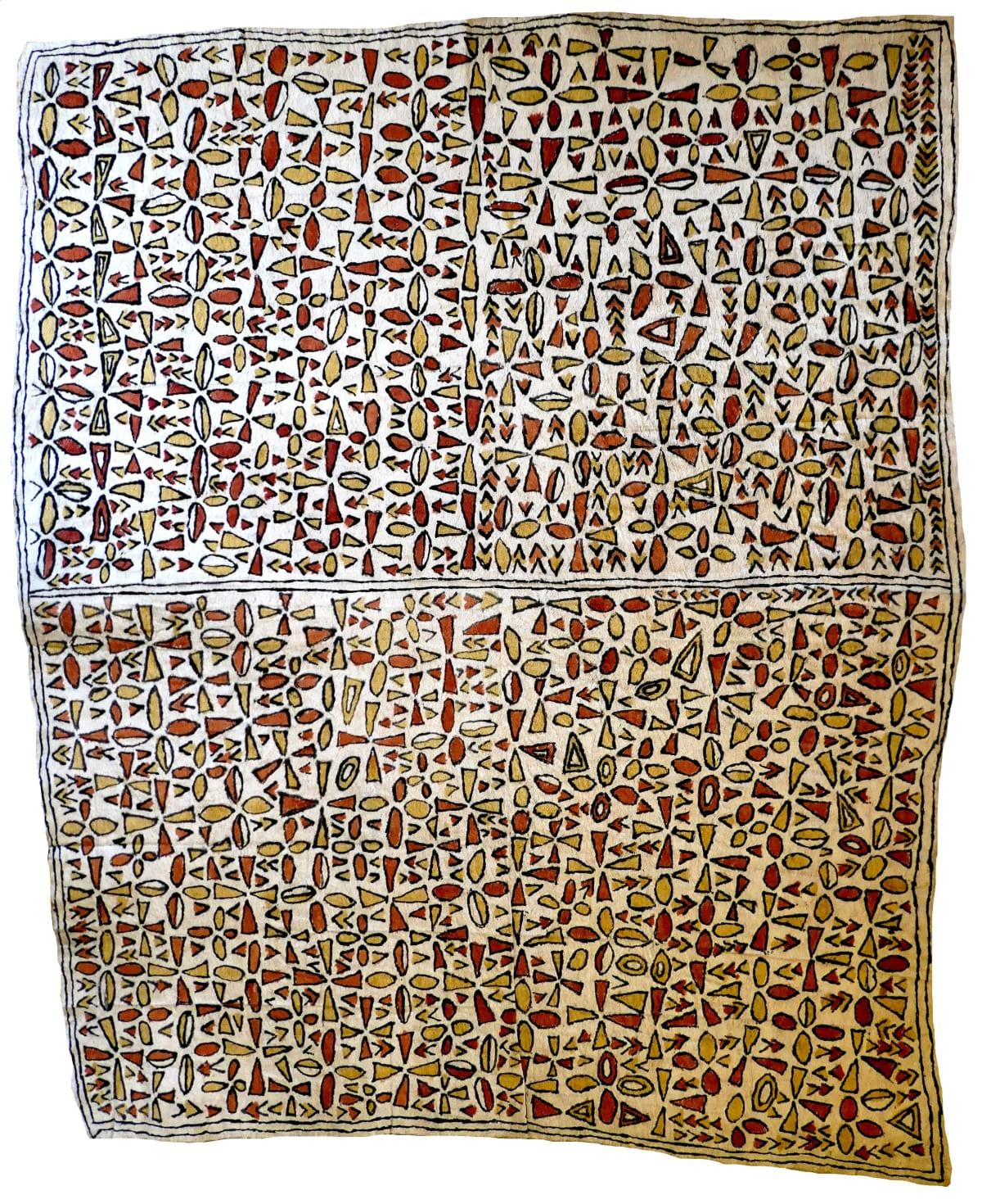 Martha-Jean Uhamo (Dogarine) Soru'e natural pigments on nioge (barkcloth) 103 x 85 cm