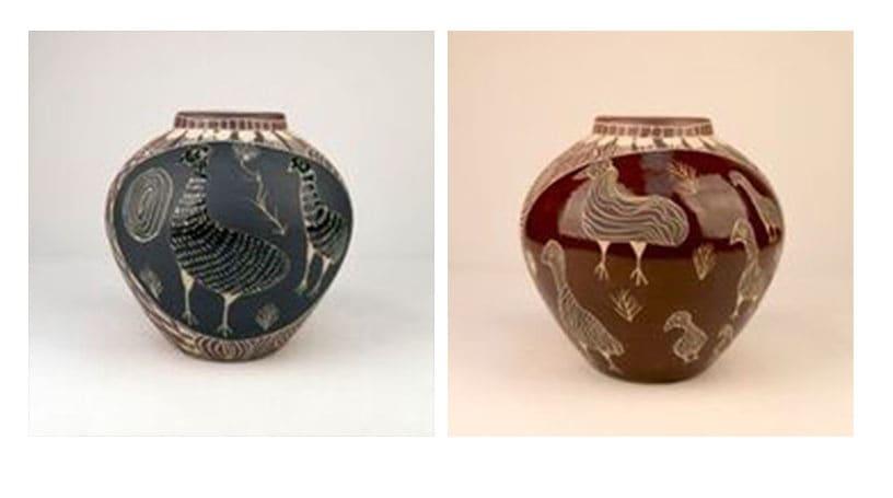 Carlene Thompson Tjulpu Kulunypa Stoneware 24 x 24.5 cm